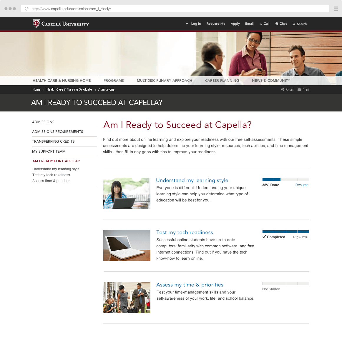 Readiness Center Homepage